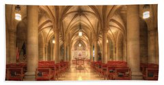 Bethlehem Chapel Washington National Cathedral Beach Towel