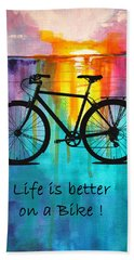 Better On A Bike Beach Towel