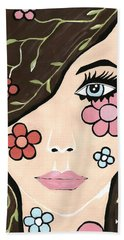 Betty - Contemporary Woman Beach Towel