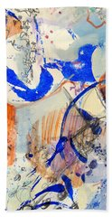 Beach Towel featuring the mixed media Between Branches by Mary Schiros