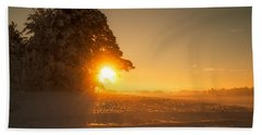 Beach Towel featuring the photograph Between Day And Night by Rose-Maries Pictures