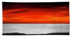 Between Red And Black Beach Towel
