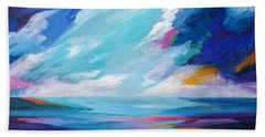 Between The Clouds Beach Towel