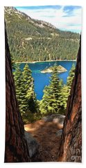 Between The Pines Beach Towel