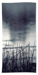 Beach Towel featuring the photograph Between The Waters by Trish Mistric