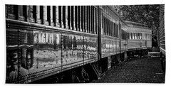 Beach Towel featuring the photograph Between Trains by Mitch Shindelbower