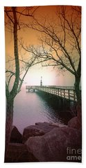 Between Two Trees Beach Towel