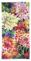 bety's Dahlias Beach Towel