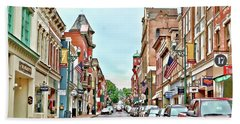 Beach Towel featuring the photograph Beverley Historic District - Staunton Virginia - Art Of The Small Town by Kerri Farley