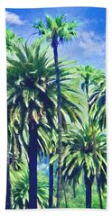 Beverly Hills Palms Beach Towel