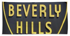 Beverly Hills Sign Beach Towel by Mindy Sommers