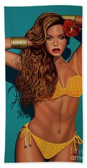 Beyonce 2 Beach Towel by Paul Meijering