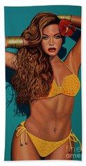 Beyonce 2 Beach Sheet by Paul Meijering