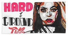 Beyonce Pop Art Painting Beach Towel