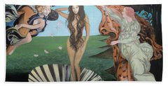 Beyonce - The Birth Of Venus Beach Towel by Angelo Thomas