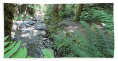 Beach Towel featuring the photograph Beyond The Ferns by Marie Neder