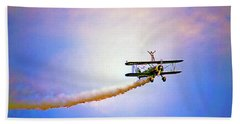 Bi-plane And Wing Walker Beach Towel