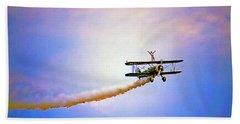 Bi-plane And Wing Walker Beach Sheet