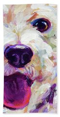 Bichon Frise Face Beach Towel