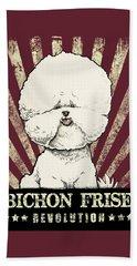 Bichon Frise Revolution Beach Towel