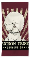 Bichon Frise Revolution Beach Sheet