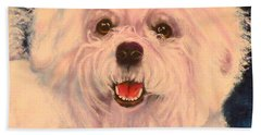 Bichon Frise Beach Towel