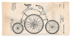 Bicycle From 1899 Beach Towel