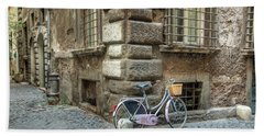 Bicycle In Rome Beach Sheet