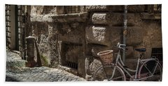 Bicycle In Rome, Italy Beach Towel