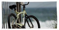 Bicycle On The Beach Beach Towel by Julie Niemela