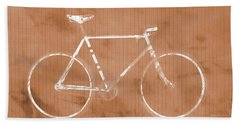 Bicycle On Tile Beach Towel by Dan Sproul