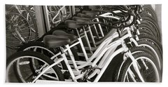 Bicycles In Belmont Shore Beach Towel