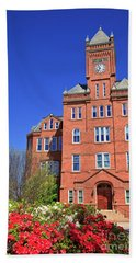 Biddle Hall In The Spring Beach Towel