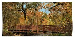 Beach Towel featuring the photograph Bidwell Park Bridge In Chico by James Eddy