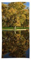 Bidwell Park Reflections Beach Towel by James Eddy