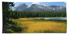 Beach Towel featuring the photograph Autumn At Bierstadt Lake by David Chandler