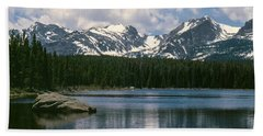 Bierstadt Lake Hallett And Otis Peaks Rocky  Mountain National Park Beach Towel