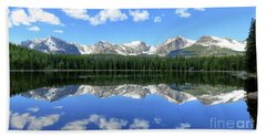 Bierstadt Lake In Rocky Mountain National Park Beach Towel by Ronda Kimbrow