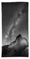 Beach Towel featuring the photograph Big And Bright In Black And White by Stephen Stookey