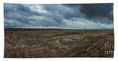 Big Badlands Overlook Panorama 2  Beach Towel
