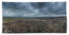 Big Badlands Overlook Panorama Beach Towel