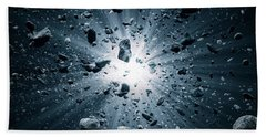 Big Bang Explosion In Space Beach Towel