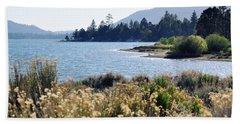 Big Bear Lake Shoreline Beach Towel