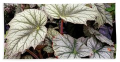 Big Begonia Leaves Beach Towel