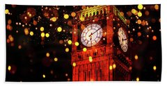 Big Ben Aglow Beach Towel