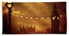 Beach Sheet featuring the digital art Big Ben At Night by Fine Art By Andrew David