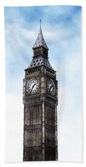 Big Ben, Parliament, London Beach Towel