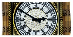 Big Ben Square Portrait Beach Towel by James Brunker