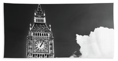 Big Ben With Cloud Beach Towel