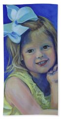 Big Bow Little Girl Beach Towel